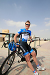 Tyler Farrar (USA) Garmin-Cervelo chilled before the start of Stage 1 of the Tour of Qatar 2012 running 142.5km from Barzan Towers to Doha Golf Club, Doha, Qatar. 5th February 2012.<br /> (Photo by Eoin Clarke/NEWSFILE).