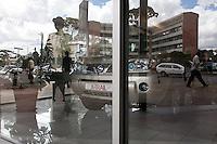 The showroom window at DT Dobie in Nairobi, Kenya.