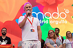 Representative of the associations MADO and AEGAL during the presentation of the lgtb pride party of Madrid. July 3, 2019. (ALTERPHOTOS/JOHANA HERNANDEZ)