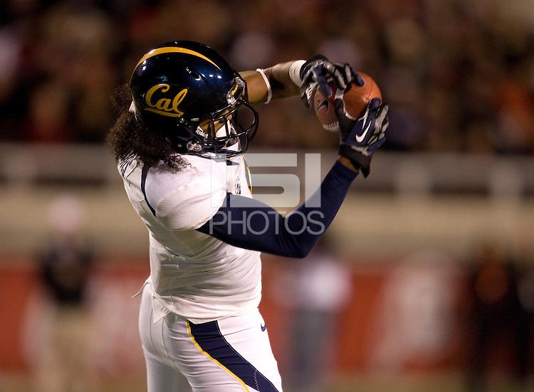 Maurice Harris of California catches the ball during the game against Utah at Rice-Eccles Stadium in Salt Lake City, Utah on October 27th, 2012.   Utah Utes defeated California, 49-27.
