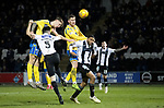 St Mirren v St Johnstone…..04.03.20   Simple Digital Arena   SPFL<br />Jason Kerr has a header at goal<br />Picture by Graeme Hart.<br />Copyright Perthshire Picture Agency<br />Tel: 01738 623350  Mobile: 07990 594431