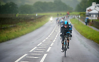 Bernie Eisel (AUT) speeding in front of the peloton<br /> <br /> Tour of Britain 2013<br /> stage 2: Carlisle to Kendal (187km)