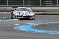 #54 AF Corse Ferrari 488 GTE EVO LMGTE Am, Thomas Flohr, Giancarlo Fisichella, Francesco Castellacci, 24 Hours of Le Mans , Free Practice 1, Circuit des 24 Heures, Le Mans, Pays da Loire, France