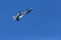 FORT LAUDERDALE, FLORIDA - MAY 05:  Boeing F/A-18E/F Super Hornet performs at The Fort Lauderdale Air Show on May 5, 2018 in Fort Lauderdale, Florida. <br /> <br /> <br /> People:  Boeing F/A-18E/F Super Hornet