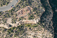 straight down view of Kiva structure