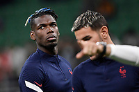 Paul Pogba of France looks on during the warm up prior to the Uefa Nations League final football match between Spain and France at San Siro stadium in Milano (Italy), October 10th, 2021. Photo Andrea Staccioli / Insidefoto