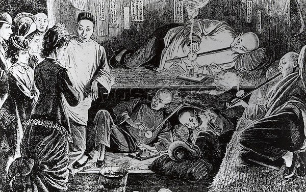 Tourists Visiting The Opium Dens In Chinatown, San Francisco Artist Unknown