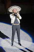 "Mariachi Trumpet Player, Performance of ""Mexico Espectacular"", Xcaret, Playa del Carmen, Riviera Maya, Yucatan, Mexico."