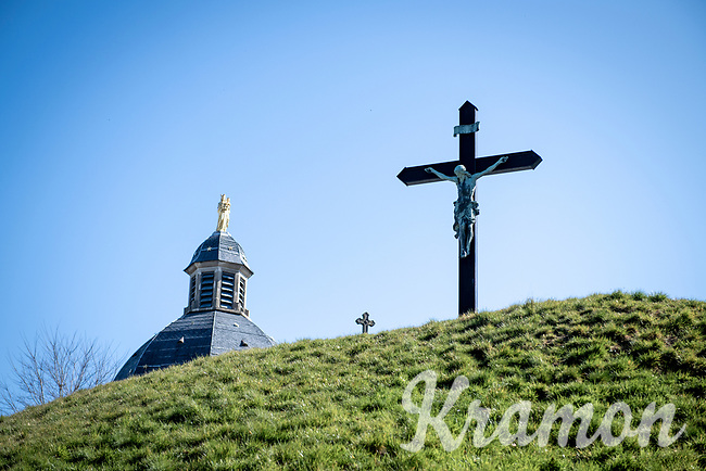 Empty Kapelmuur / Muur van Geraardsbergen on the Ronde van Vlaanderen race day<br /> <br /> Due to the international pandemic caused by the coronavirus COVID-19, the 104th Ronde van Vlaanderen, like all other Spring Classics in 2020, was canceled which left the race roads (as the rest of the country in lockdown) eerily empty on (what was the original) race day…<br /> <br /> (was supposed to be a) 1 day race from Antwerp to Oudenaarde (257km)<br /> <br /> ©kramon