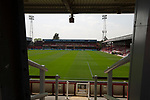 The Brook Road stand pictured from the Ealing Road terrace before Brentford hosted Leeds United in an EFL Championship match at Griffin Park. Formed in 1889, Brentford have played their home games at Griffin Park since 1904, but are moving to a new purpose-built stadium nearby. The home team won this match by 2-0 watched by a crowd of 11,580.