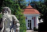 Austria, Styria, Graz: pavilion, statue at park of castle Eggenberg