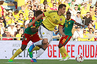 Colombia's Gio Moreno (r) and Cameroon's Robert Ndip Tambe during international friendly match. June 13,2017.(ALTERPHOTOS/Acero) (NortePhoto.com) (NortePhoto.com)