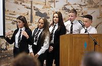 Pictured: Pentrehafod School presentation Wednesday 25 November 2015<br /> Re: Schools take part in this year's Premier League Enterprise vent at Penderyn Suite, Liberty Stadium, Swansea, UK