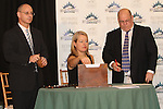 June 4, 2014: Post position draw for the Belmont Stakes at Belmont. Sue Kawczynski/ESW/CSM