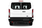 Straight rear view of a 2015 Ford Transit 150 Van 2 Door  Rear View  stock images