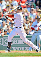 10 June 2012: Boston Red Sox outfielder Ryan Sweeney in action against the Washington Nationals at Fenway Park in Boston, MA. The Nationals defeated the Red Sox 4-3 to sweep their 3-game interleague series. Mandatory Credit: Ed Wolfstein Photo