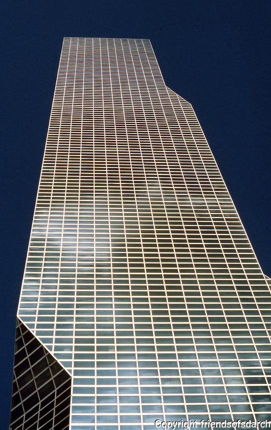 Roche, Dinkerloo: One U. N. Plaza, New York. Looking up.