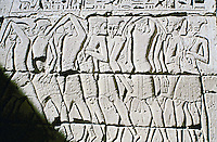 The Mortuary Temple of Ramesses III at Medinet Habu. Inscribed relief.