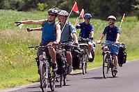 Bicycle Riders, Grand Isle, VT. Lake Champlain Islands