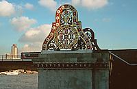 London:  Thameside Walk #13.  Blackfriars Railway Station Bridge.  Photo '90.