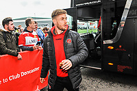 Fleetwood Town's forward Conor McAleny (10) arriving for the Sky Bet League 1 match between Doncaster Rovers and Fleetwood Town at the Keepmoat Stadium, Doncaster, England on 6 October 2018. Photo by Stephen Buckley / PRiME Media Images.