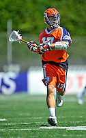 23 August 2008: Philadelphia Barrage Midfilder David Schecter in action against the Rochester Rattlers during the Semi-Finals of the Major League Lacrosse Championship Weekend at Harvard Stadium in Boston, MA. The Rattlers defeated the Barrage 16-15 in sudden death overtime, advancing to the upcoming Championship Game...Mandatory Photo Credit: Ed Wolfstein Photo