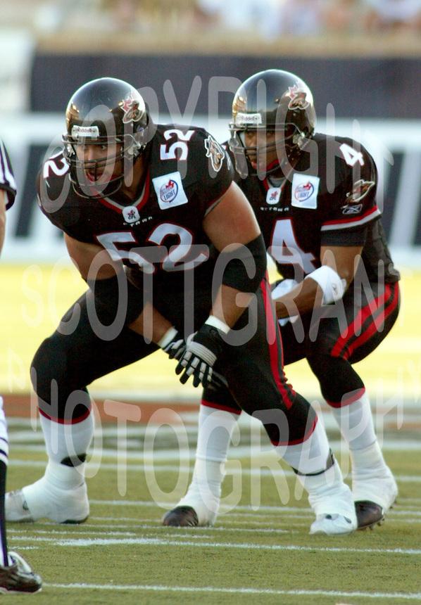 George Hudson and Kerry Joseph Ottawa Renegades 2004. Photo Scott Grant