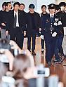 Junsu Kim of JYJ arrives at Tokyo International Airport
