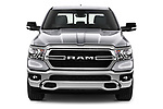 Car photography straight front view of a 2021 Ram 1500 Big-Horn 4 Door Pick-up Front View
