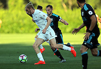 Pictured: Oliver McBurnie of Swansea Monday 15 August 2016<br /> Re: Swansea City FC U23 v West Bromwich Albion at Landore training ground, Swansea, Wales, UK