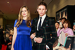 (R to L) Actor Eddie Redmayne with his wife (pose Hannah Bagshawe) pose for the cameras during the Japan premiere of the Danish Girl on March 9, 2016, Tokyo, Japan. Eddie Redmayne with his wife Hannah Bagshawe came to Japan to greet fans during the red carpet for the movie The Danish Girl. The film was nominated in four categories at the Academy Awards with Best Supporting Actress going to Alicia Vikander. Redmayne who won Best Actor at the Academy Awards in 2015 lost out this year in the Best Actor category to Leonardo DiCaprio. The film hits Japanese theaters on March 18. (Photo by Rodrigo Reyes Marin/NipponNews.net)