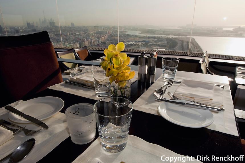 Vereinigte arabische Emirate (VAE), Dubai, Restaurant Al-Dawaar im Hotel Hyatt Regency in Deira