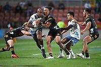27th March 2021; Hamilton, New Zealand;  Mark Telea and Sean Wainui.<br /> Chiefs versus Blues, Super Rugby  AOTEAROA, FMG Waikato Stadium, Hamilton, New Zealand.