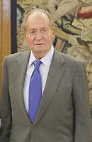 MADRID, SPAIN - FEBRUARY 17: King Juan Carlos has meets Susana Diaz, president of Andalucia at the Zarzuela Palace on February 17, 2014 in Madrid, Spain.<br /> <br /> People:  King Juan Carlos