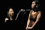 April 28, 2013, Surabaya, Indonesia - .Kanako Inoue (L), Japanese pianist, performing in classical music concert title Around the World, collaborating with Bernadeta Astari (R)(Indonesian soloist) at Cak Durasim building. (Photo by Robertus Pudyanto/AFLO)