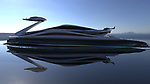 Swan shaped yacht by Lazzarini Design Studio