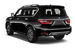 Car pictures of rear three quarter view of 2021 Nissan Armada SL 5 Door SUV Angular Rear