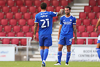 5th September 2020; PTS Academy Stadium, Northampton, East Midlands, England; English Football League Cup, Carabao Cup, Northampton Town versus Cardiff City; A dejected Sean Morrison of Cardiff City as Ryan Watson of Northampton Town scores for 3-0