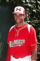 Infielder Oscar Mercado #2 of Gaither High School in Tampa, Florida poses for a photo before participating in the Under Armour All-American Game powered by Baseball Factory at Wrigley Field on August 18, 2012 in Chicago, Illinois.  (Mike Janes/Four Seam Images)