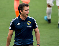 LOS ANGELES, CA - AUGUST 22: Guillermo Barros Schelotto head coach of the Los Angeles Galaxy during a game between Los Angeles Galaxy and Los Angeles FC at Banc of California Stadium on August 22, 2020 in Los Angeles, California.