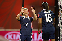 MONTREAL, Canada - Sunday June 21, 2015: France takes on Korea Republic in the round of 16 in the FIFA Women's World Cup Canada 2015 at Olympic Stadium in Montreal, Quebec Canada.