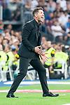 Atletico de Madrid coach Diego Pablo Simeone during La Liga match between Real Madrid and Atletico de Madrid at Santiago Bernabeu Stadium in Madrid, Spain. September 29, 2018. (ALTERPHOTOS/Borja B.Hojas)