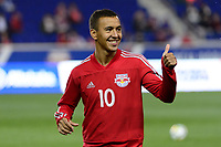 """Harrison, NJ - Thursday March 01, 2018: Alejandro Romero Gamarra """"Kaku"""". The New York Red Bulls defeated C.D. Olimpia 2-0 (3-1 on aggregate) during a 2018 CONCACAF Champions League Round of 16 match at Red Bull Arena."""