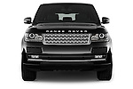 Car photography straight front view of a 2015 Land Rover RANGE ROVER Vogue 5 Door SUV Front View