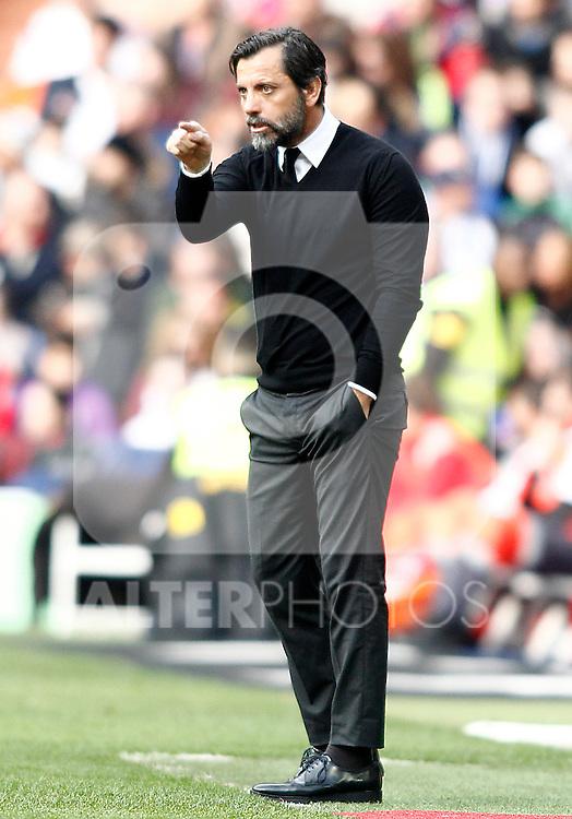 RCD Espanyol's coach Quique Sanchez Flores during La Liga match. February 18,2017. (ALTERPHOTOS/Acero)