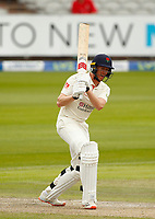 28th May 2021; Emirates Old Trafford, Manchester, Lancashire, England; County Championship Cricket, Lancashire versus Yorkshire, Day 2; Luke Wells of Lancashire plays through the covers