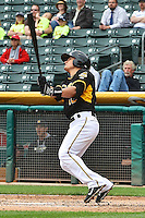 Tommy Field (12) of the Salt Lake Bees at bat against the Memphis Redbirds at Smith's Ballpark on June 18, 2014 in Salt Lake City, Utah.  (Stephen Smith/Four Seam Images)
