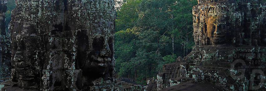 Last Light at Bayon temple, Cambodia