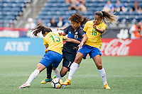 Seattle, WA - Thursday July 27, 2017:   Mina Tanaka during a 2017 Tournament of Nations match between the women's national teams of the Japan (JAP) and Brazil (BRA) at CenturyLink Field.