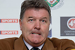 Nationwide Friendly International Wales v Sweden at the Liberty Stadium in Swansea : Wales Manager John Toshack speaking at the post match press conference...